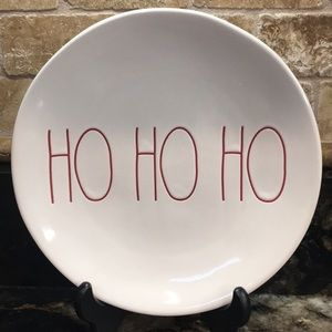 New Set of 2 Rae Dunn HO HO HO Salad Plates